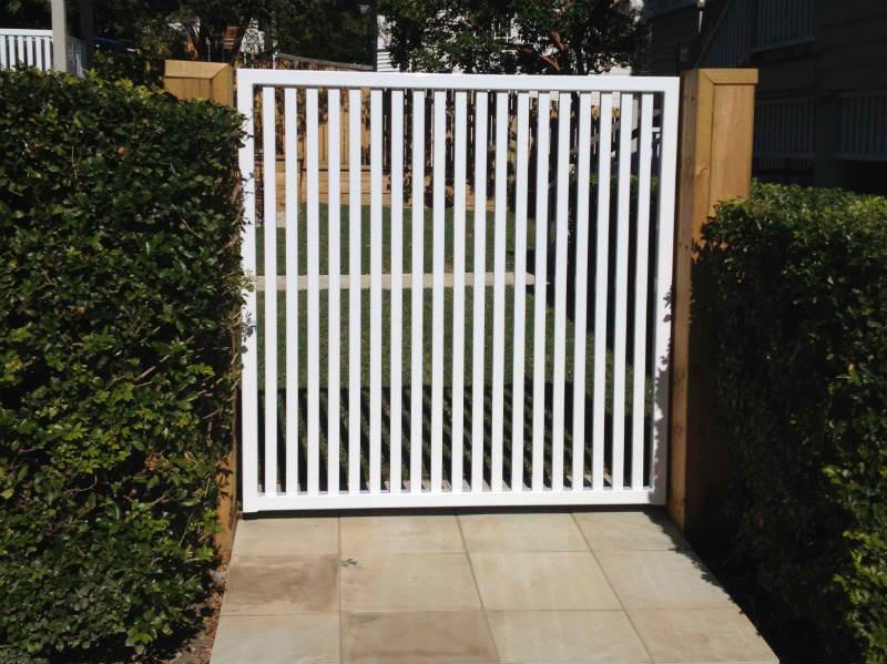 white gates - aluminium gates brisbane